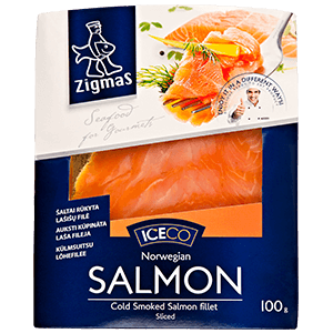 Cold smoked salmon fillet (sliced)