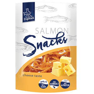 Dried cheese taste salmon fillet strips