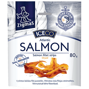 Dried salmon fillet strips