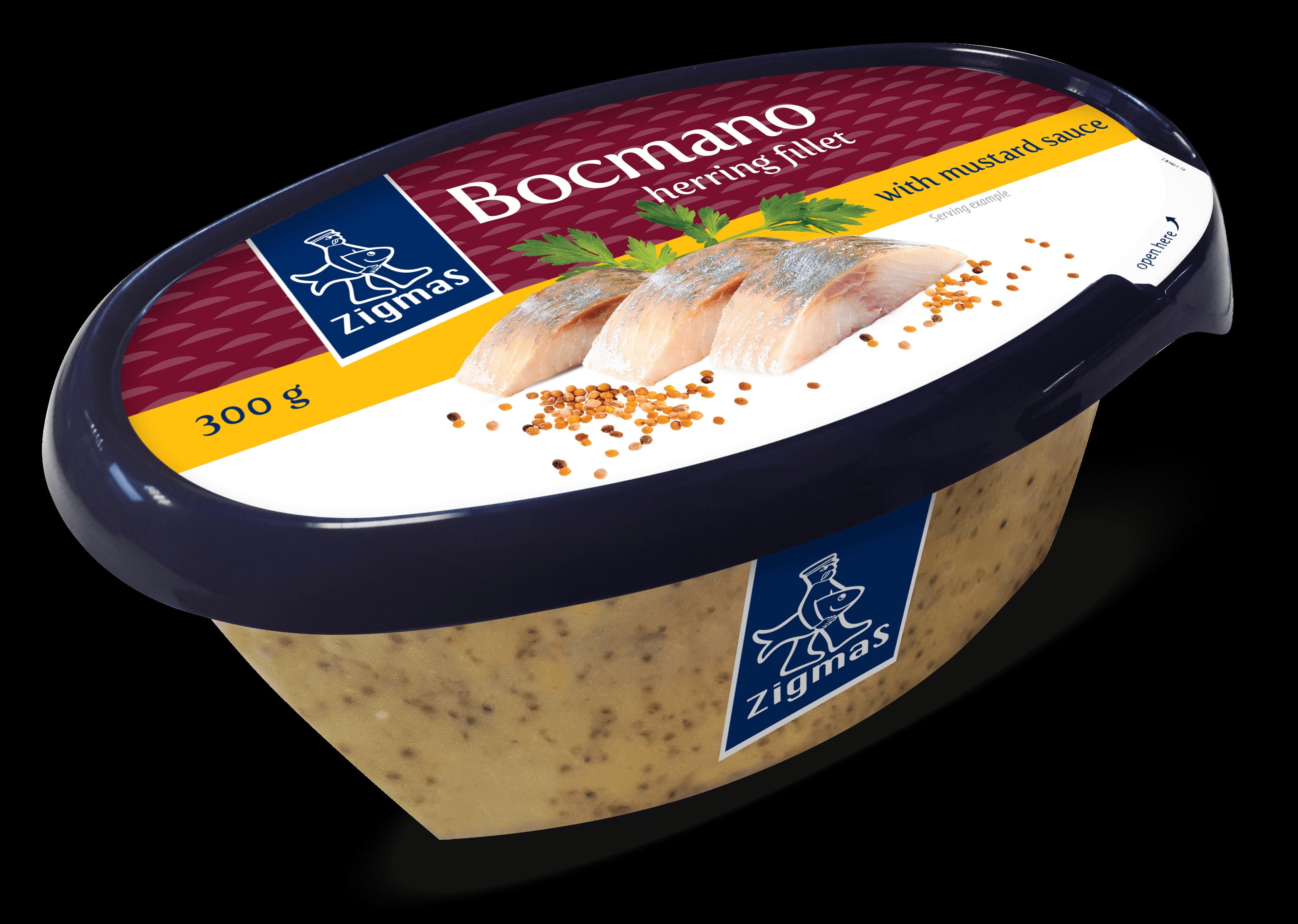 BOCMANO herring fillet in mustard sauce