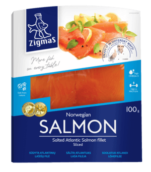 Salted salmon fillet (sliced)