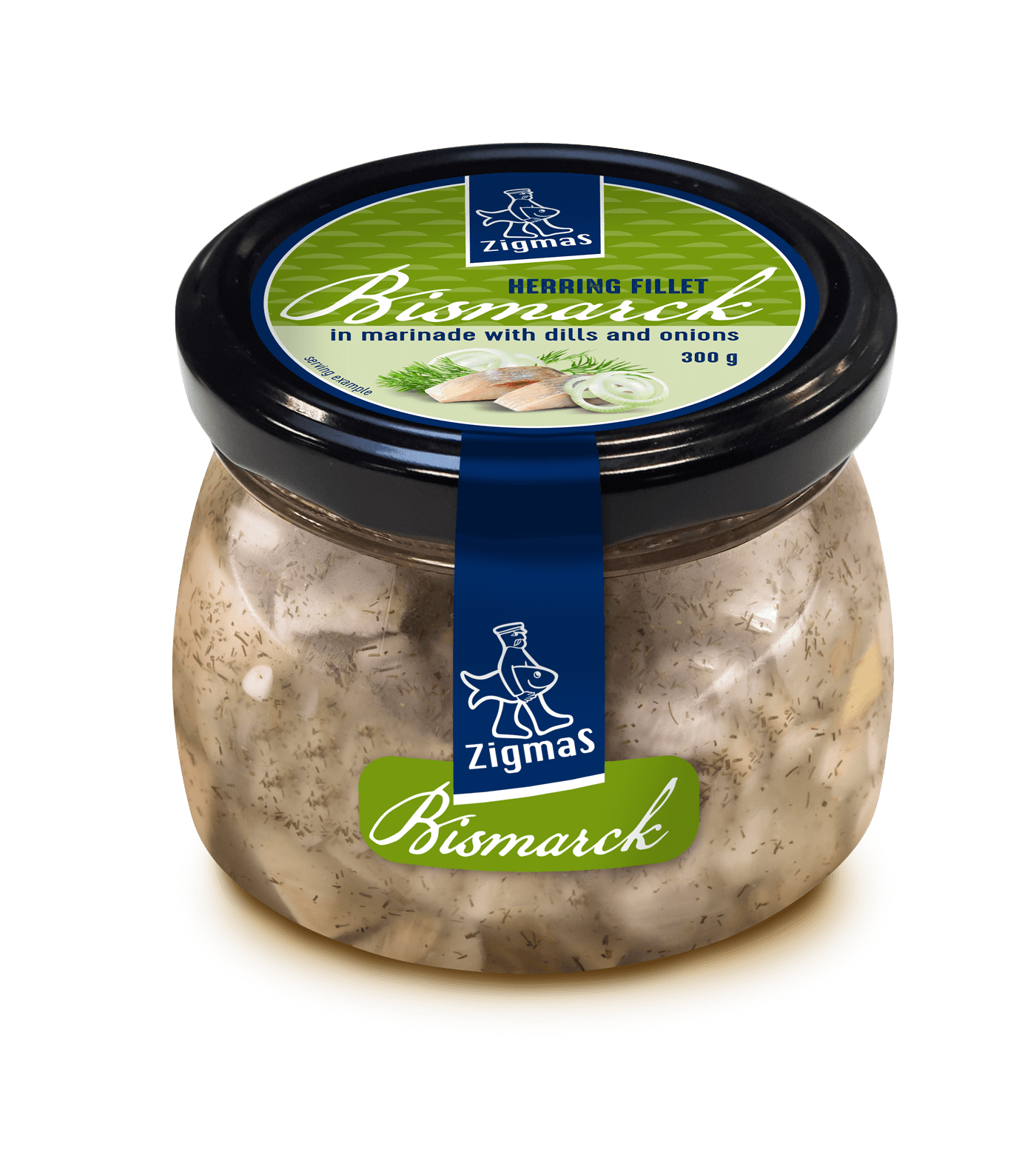 BISMARCK marinated herring fillet pieces in dill and onion marinade