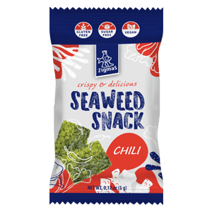 Roasted seaweed snack with chili pepper