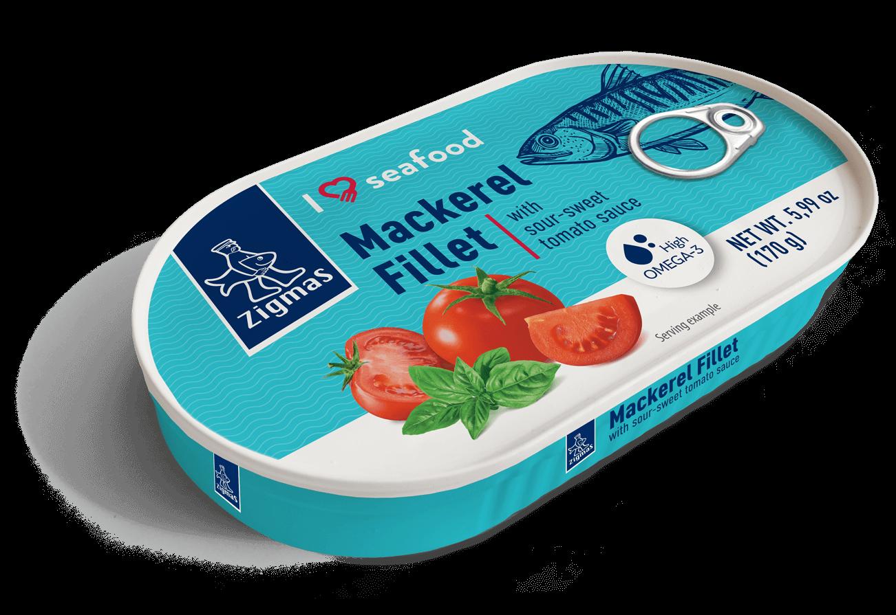 Skumbrės filė saldžiarūgščiame pomidorų padaže