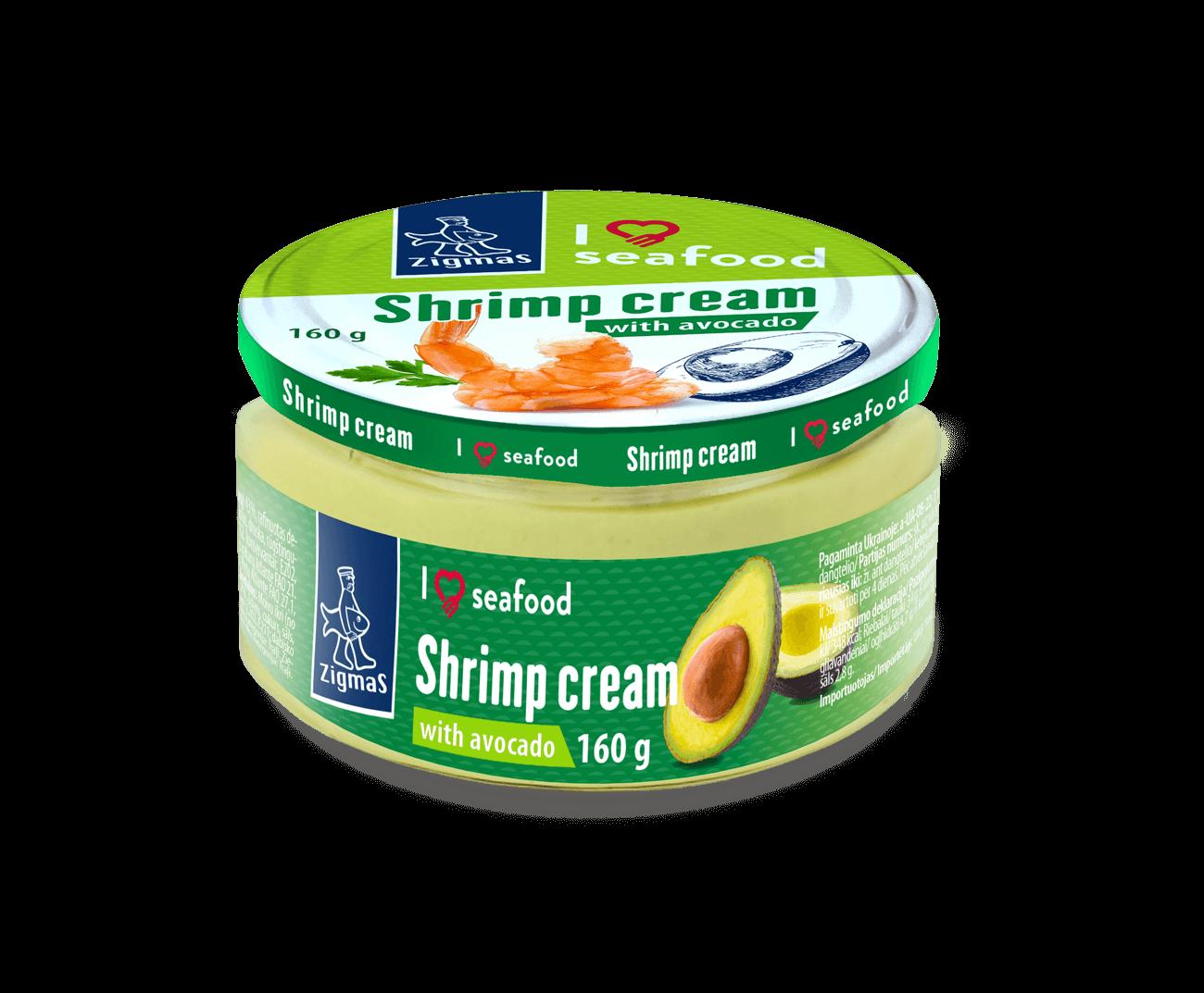 Shrimp cream with avocado