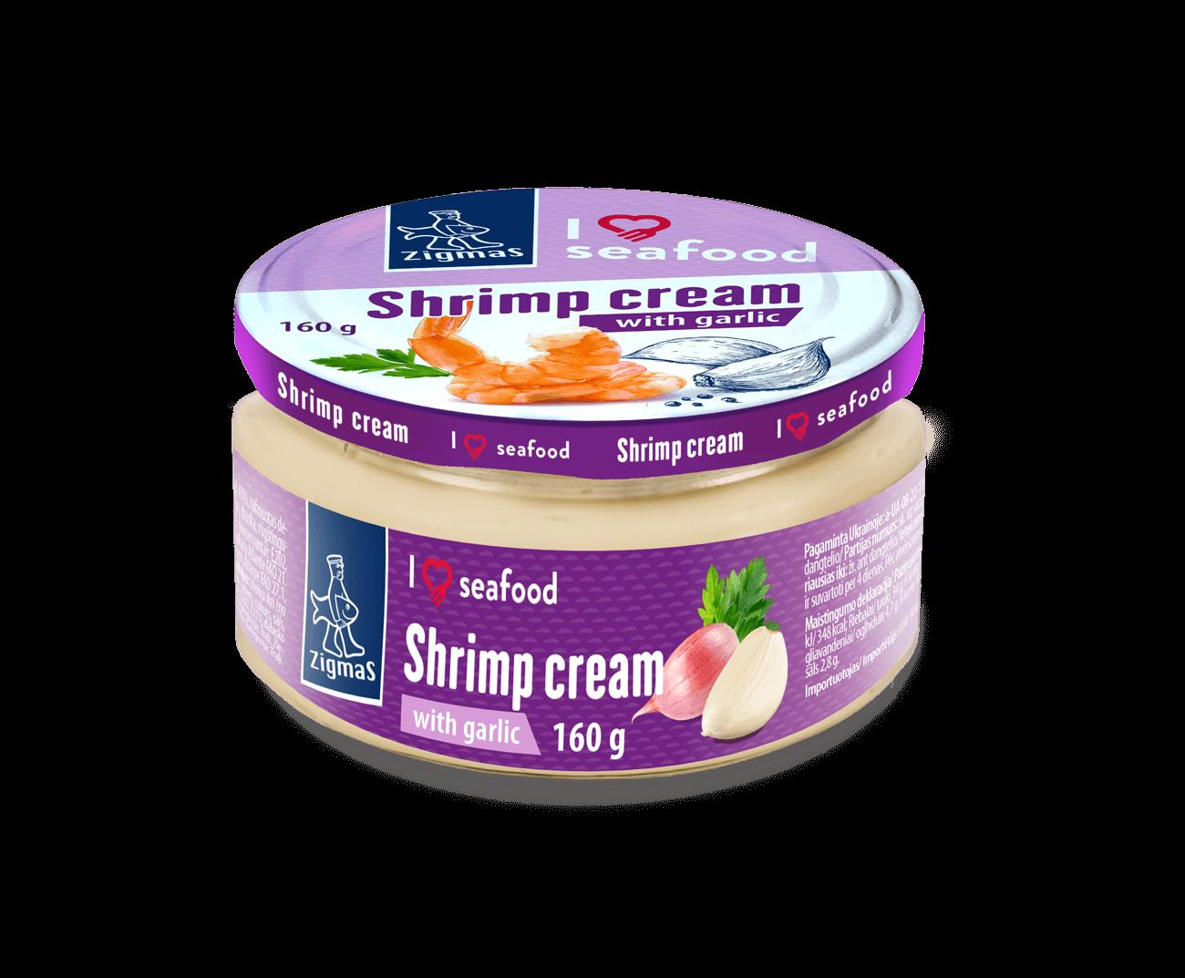 Shrimp cream with garlic