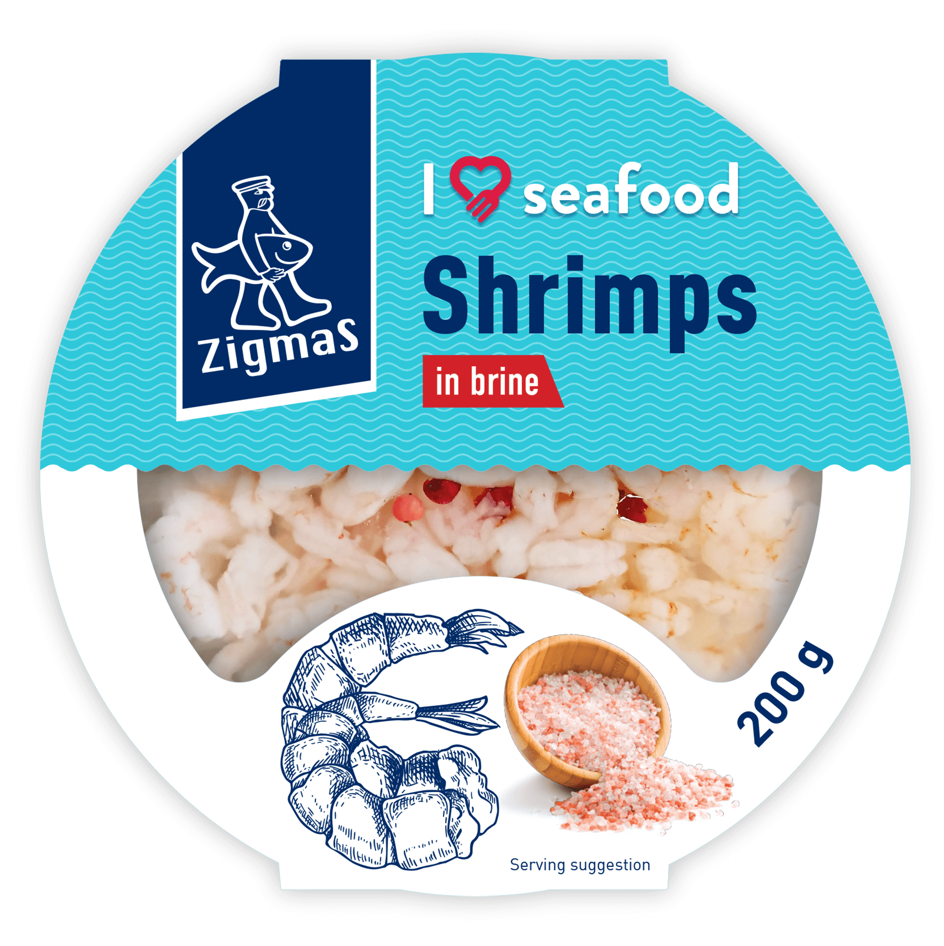 Shrimps in brine