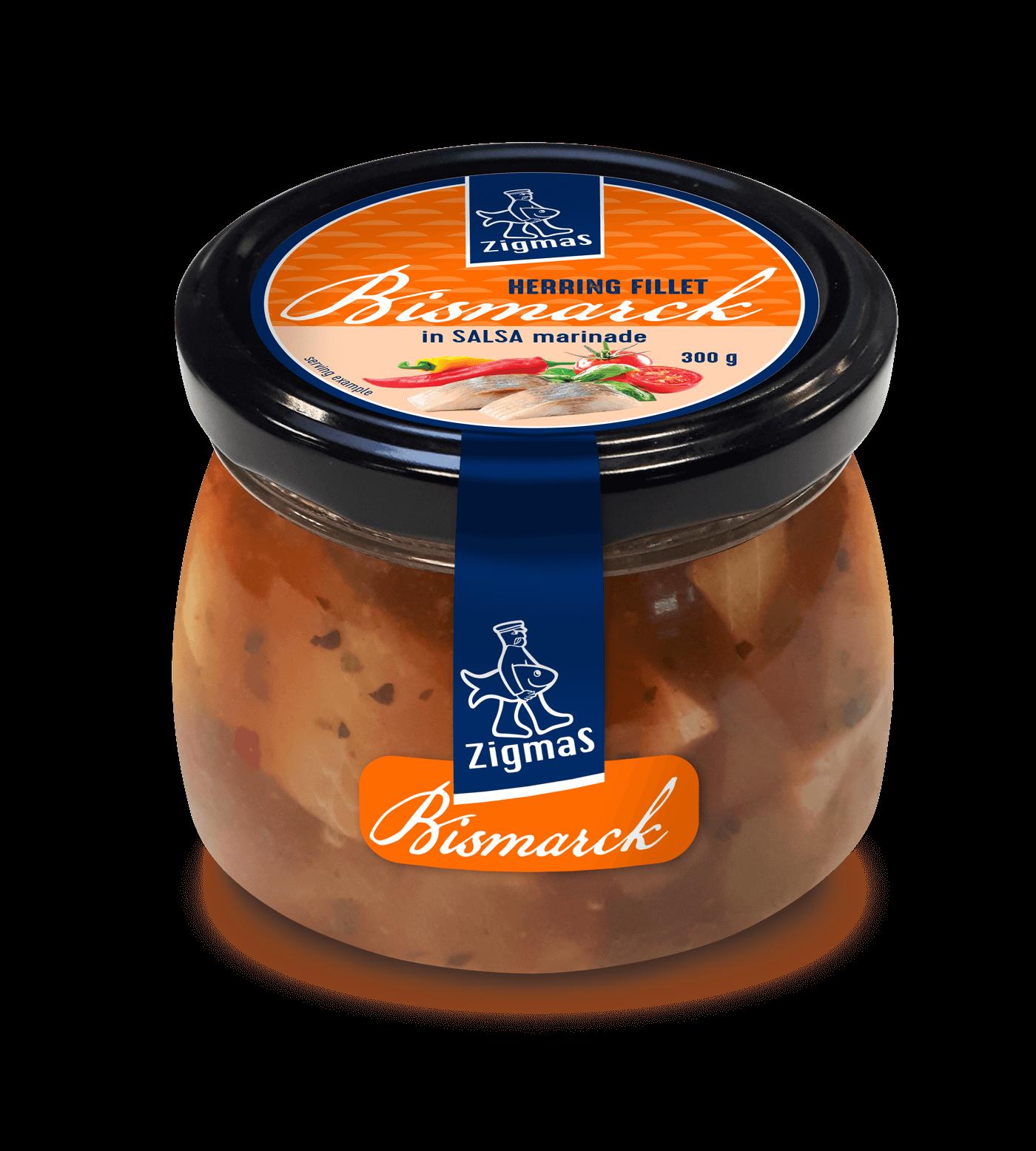 BISMARCK silkių filė salsa marinate