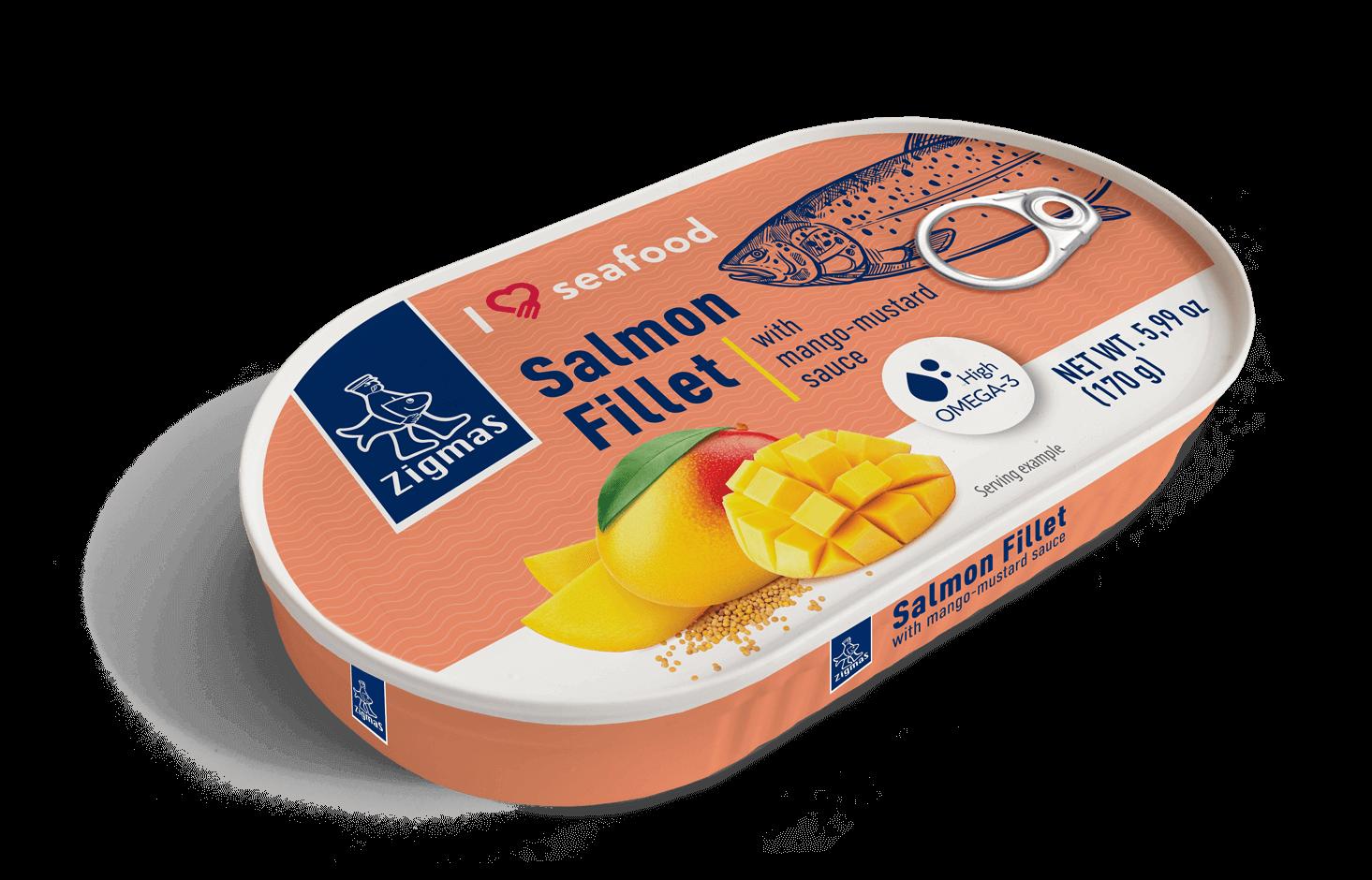 Lašišos filė mangų-garstyčių padaže