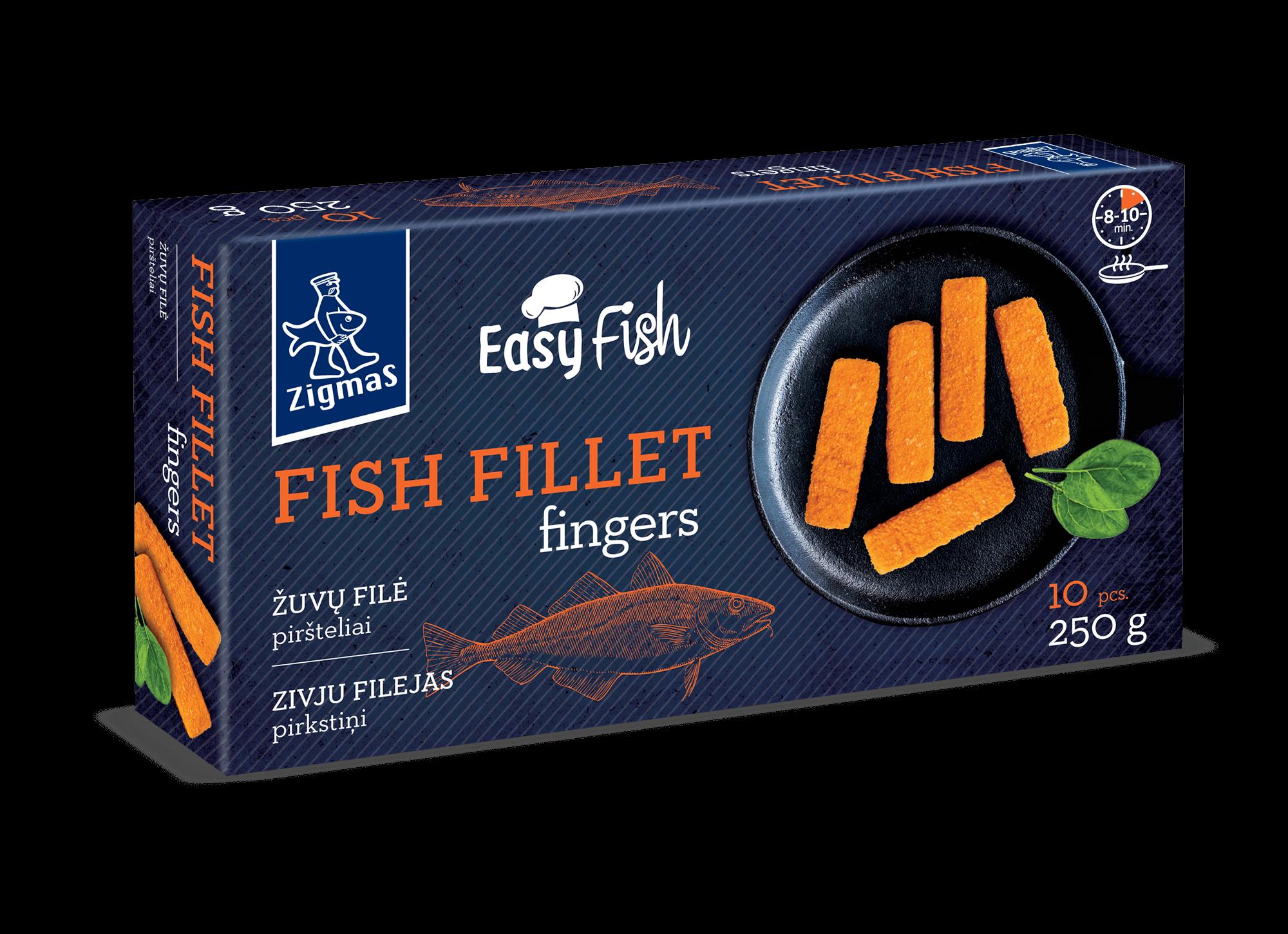 Žuvų filė piršteliai